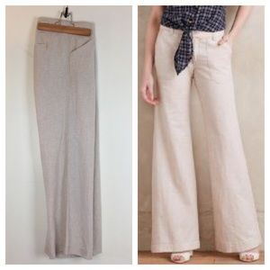 ANTHROPOLOGIE Pilcro Press Linen Trouser Pants